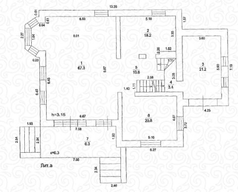 Вилла 250 Кантри первый этаж