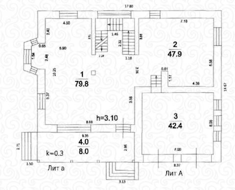 Вилла 300 Кантри первый этаж