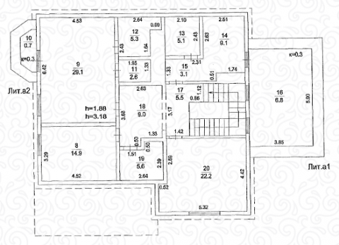 Вилла 250 Кантри второй этаж