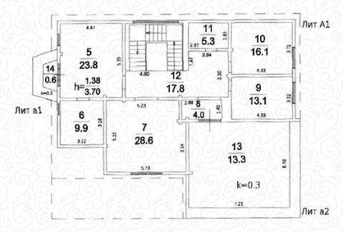 Вилла 300 Кантри второй этаж