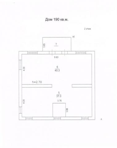 Дом 190 м2 без гаража второй этаж