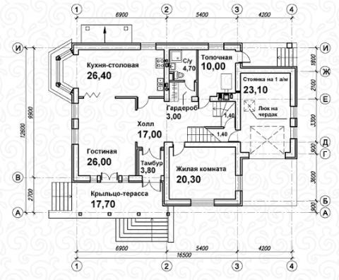Вилла 250 первый этаж