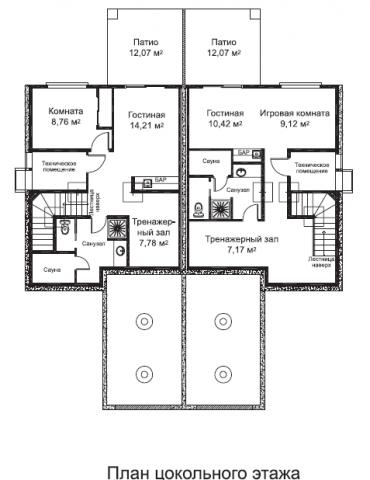 Дуплекс Мавера тип A цокольный этаж