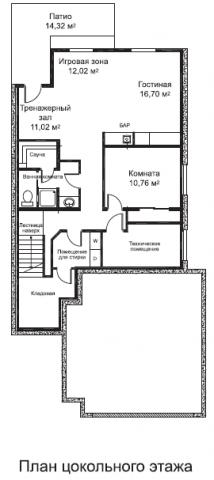 Милтаун тип C цокольный этаж