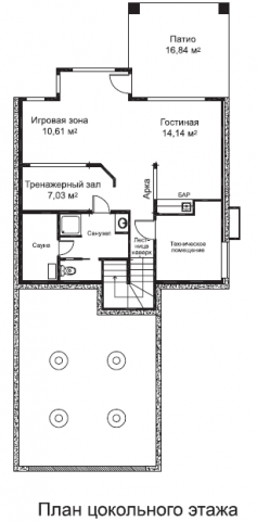 Кардиф тип A цокольный этаж