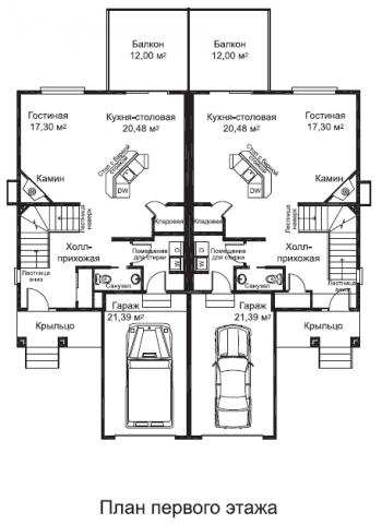 Дуплекс Мавера тип A первый этаж