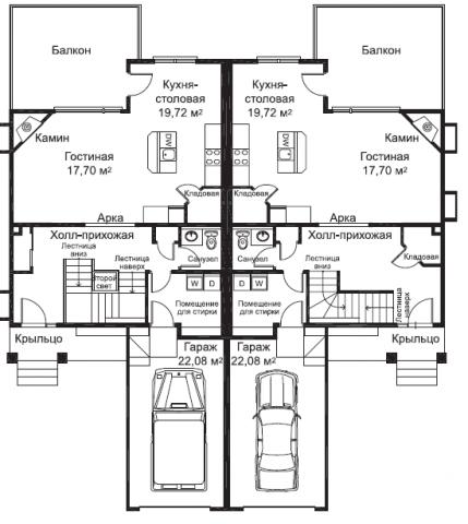 Эшвуд тип A план первого этажа