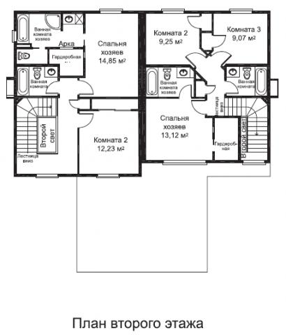 Дуплекс Мавера тип A второй этаж