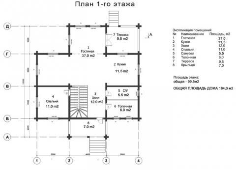Брусландия проект 5 первый этаж