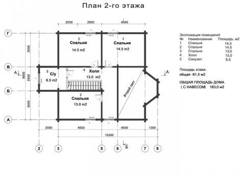 Брусландия проект 4 второй этаж