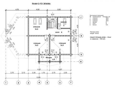 Брусландия проект 6 второй этаж