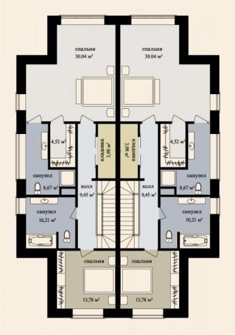 Дуплекс 170 м2 второй этаж