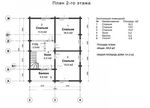 Брусландия проект 2 второй этаж