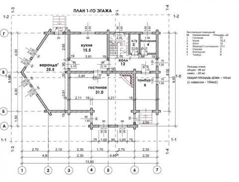 Брусландия проект 6 первый этаж