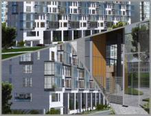 Проект отличается хорошей транспортной доступностью, около здания пролегают крупные дорожные артерии