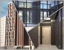 Комплекс будет выполнен в «комфорт» классе, на выбор покупателей представлены семьдесят две квартиры
