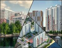 Жилые комплексы около рек и водохранилищ, представлены в формате квартир, не большую часть занимают апартаменты