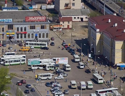 """Территория Привокзальной площади около станции """"Серпухов"""""""