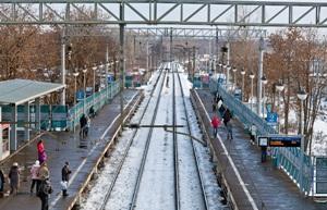 """Линии железной дороги на станции """"Воронок"""""""
